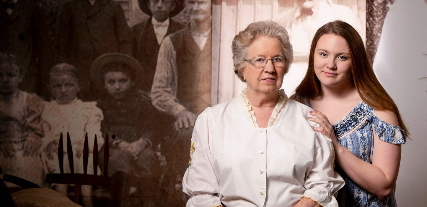 Brenda Skalsky with granddaughter Haley Bowkley