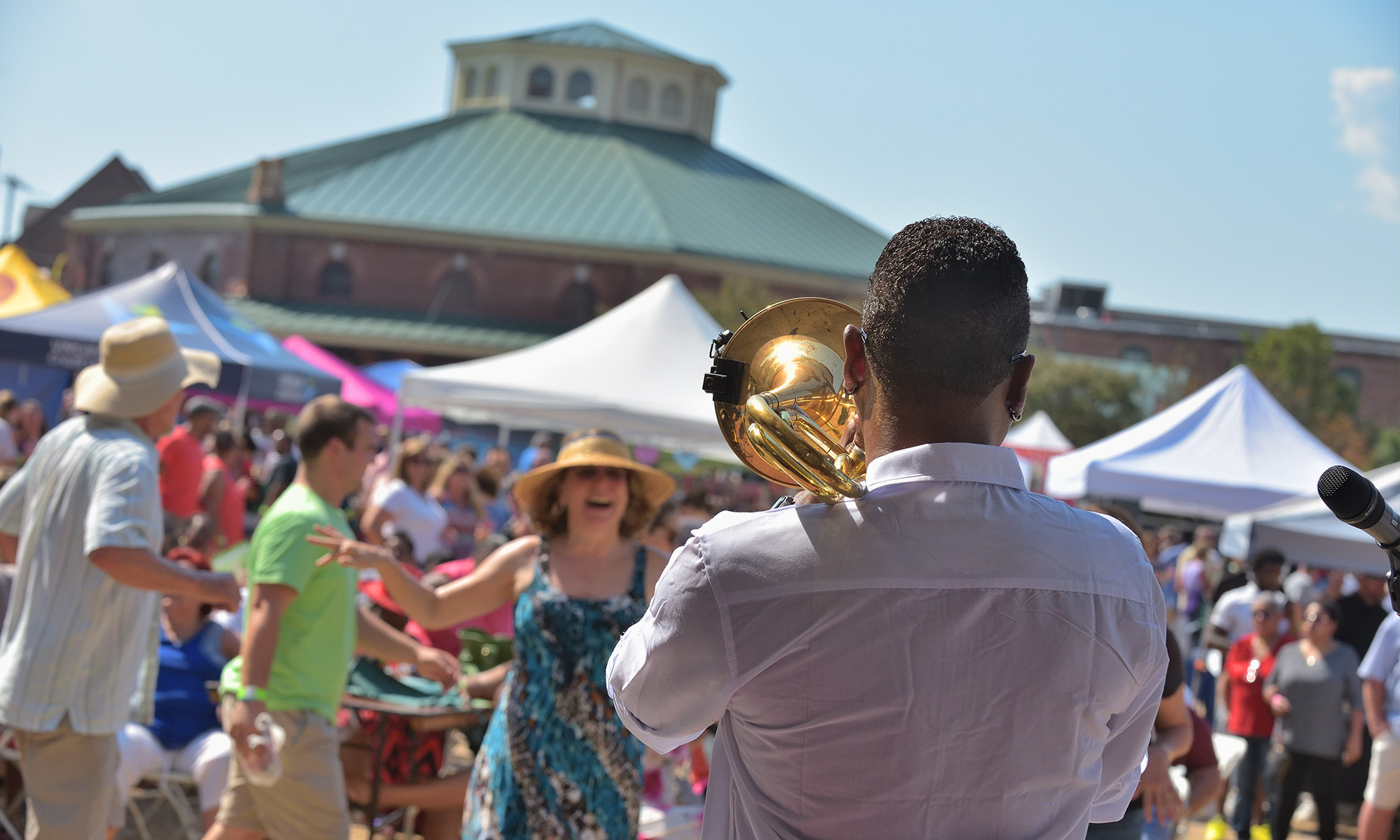 Festivals with City Table in Background - Petersburg, VA